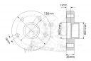 Фланци VROMOS за Mercedes G-Class 5x130mm / 14x1,5mm / 38mm