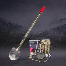 Мултифункционална лопата - комплект за оцеляване VROMOS. Иновативен и функционален дизайн. Първокласно качество. Малка и лека, удобна за носене