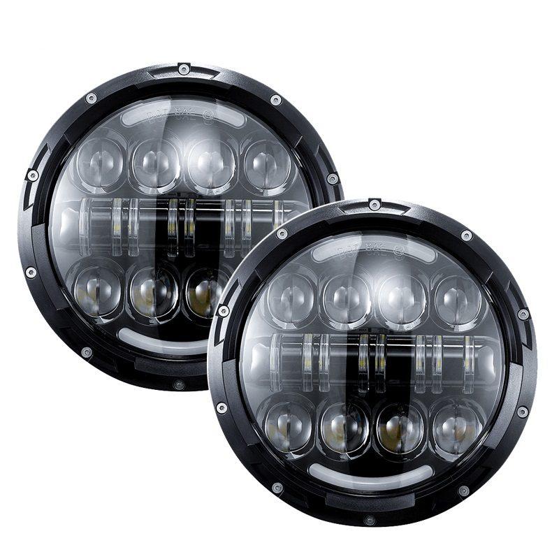 "VROMOS Jeep Headlight 7"" 80W (2 броя комплект)."