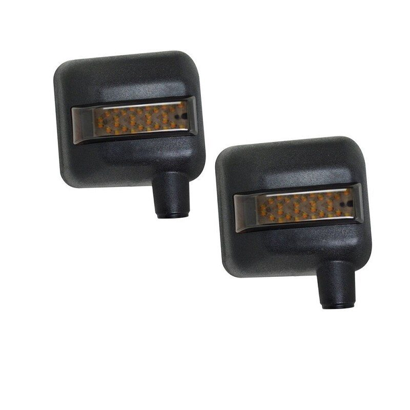 К-т капачки за огледала VROMOS за Jeep Wrangler с интегрирани LED мигач и дневна светлина.